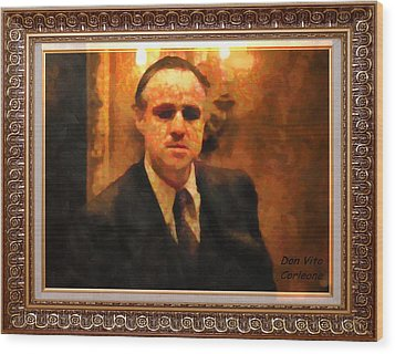The Godfather Wood Print by Mario Carini