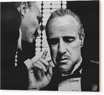 The Godfather Wood Print by Rick Fortson