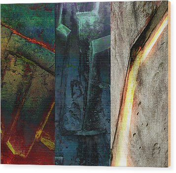 The Gods Triptych 1 Wood Print by Ken Walker