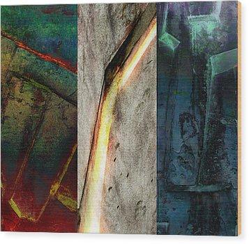 The Gods Triptych 2 Wood Print by Ken Walker