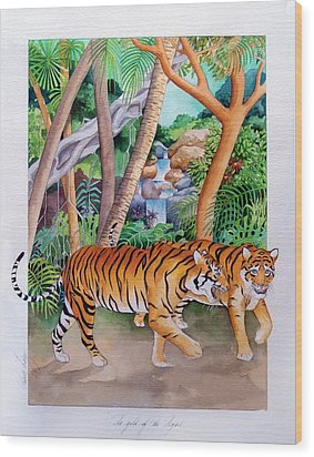 The Gold Of The Tigers Wood Print by Robert Lacy