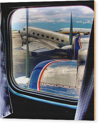 The Golden Age Of Flight -- Color Version Wood Print