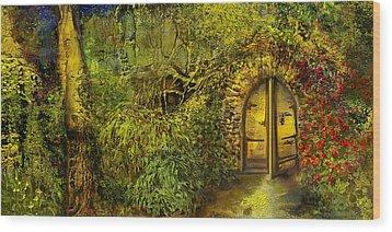 The Golden Gate Wood Print by Anne Weirich