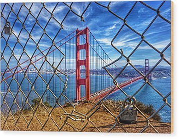 The Golden Gate Bridge  Wood Print