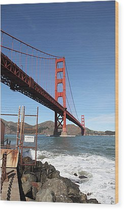 The Golden Gate Bridge At Fort Point - 5d21473 Wood Print by Wingsdomain Art and Photography