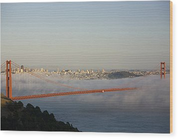 The Golden Gate Bridge From Marin Wood Print by Richard Nowitz