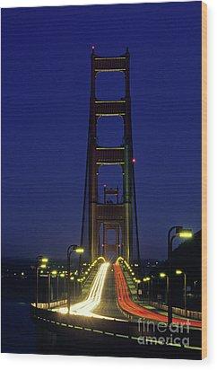 The Golden Gate Bridge Twilight Wood Print