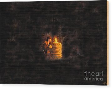 The Golden Idol Wood Print by David Lee Thompson