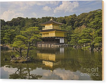 The Golden Pagoda In Kyoto Japan Wood Print by David Smith