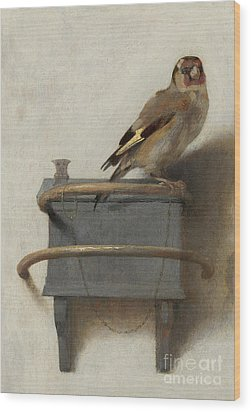 The Goldfinch, 1654  Wood Print by Carel Fabritius
