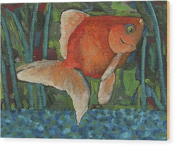 The Goldfish Bowl Wood Print