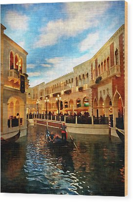 The Gondolier Wood Print