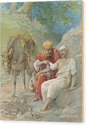 The Good Samaritan Wood Print by Ambrose Dudley