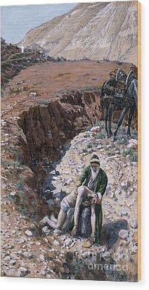 The Good Samaritan Wood Print by Tissot