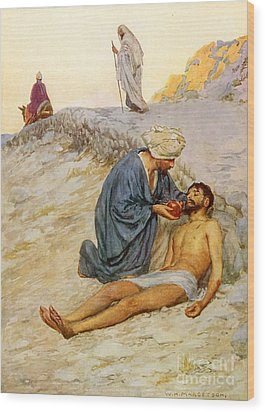 The Good Samaritan Wood Print by William Henry Margetson