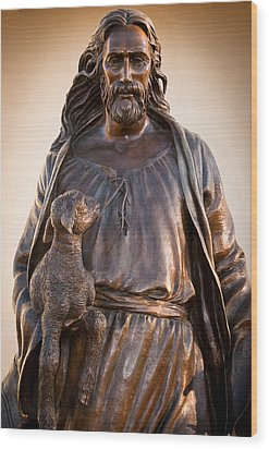 Wood Print featuring the photograph The Good Shepard by Monte Stevens