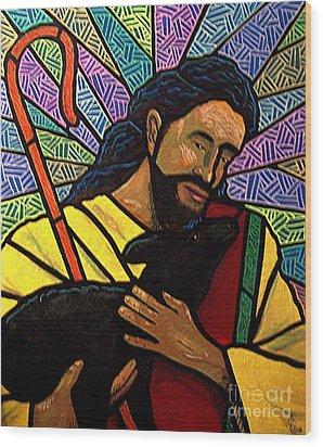 The Good Shepherd - Practice Painting One Wood Print by Jim Harris