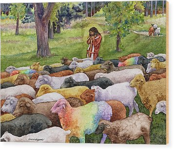 The Good Shepherd Wood Print by Anne Gifford