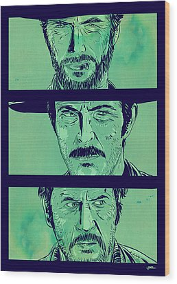The Good The Bad And The Ugly Wood Print
