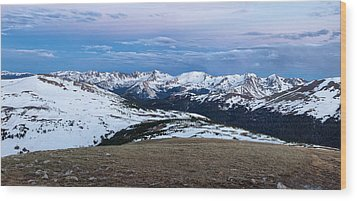 The Gore Range At Sunrise - Rocky Mountain National Park Wood Print