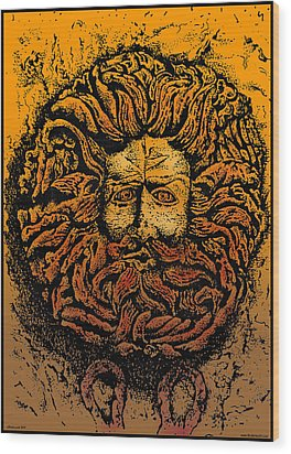 The Gorgon Man Celtic Snake Head Wood Print by Larry Butterworth