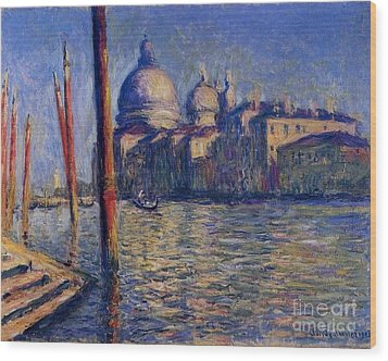 The Grand Canal And Santa Maria Wood Print by Monet