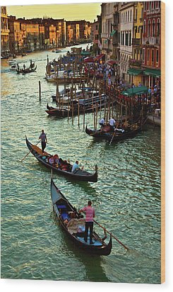 The Grand Canal Venice Wood Print by Harry Spitz