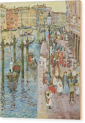 The Grand Canal Venice Wood Print by Maurice Prendergast