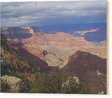 The Grand Canyon Wood Print by Marna Edwards Flavell