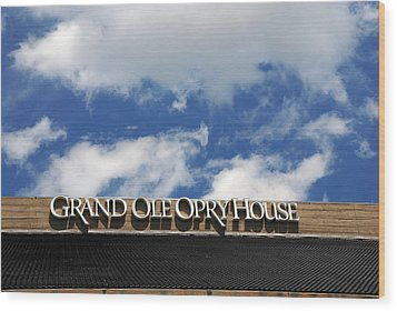 The Grand Ole Opry Nashville Tn Wood Print by Susanne Van Hulst
