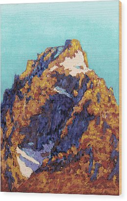 The Grand Teton Wood Print by Abbie Groves