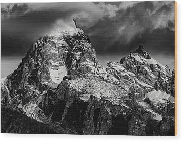 The Grand Teton Wood Print