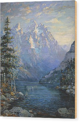 The Grand Tetons And Jenny Lake Wood Print