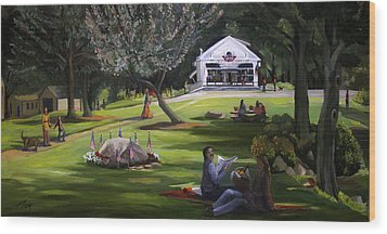 The Granville Green Wood Print by Nancy Griswold