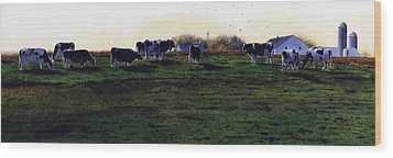 The Grass Is Greener Wood Print by Denny Bond
