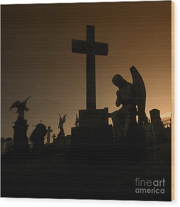 the Graveyard Wood Print by Angel  Tarantella
