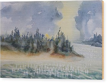The Gray Clouds Wood Print