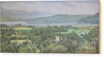 The Great Bend Wood Print by Terri Thompson