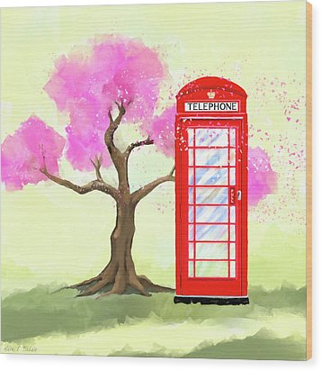 Wood Print featuring the mixed media The Great British Spring by Mark Tisdale