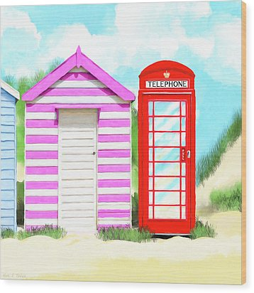 Wood Print featuring the mixed media The Great British Summer by Mark Tisdale
