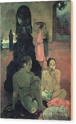 The Great Buddha Wood Print by Paul Gauguin