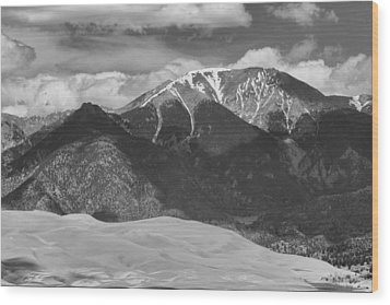 The Great Colorado Sand Dunes  125 Black And White Wood Print by James BO  Insogna