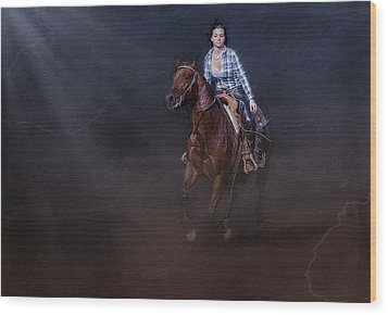 The Great Escape Wood Print by Susan Candelario