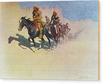 The Great Explorers Wood Print by Frederic Remington