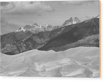 The Great Sand Dunes Bw Print 45 Wood Print by James BO  Insogna