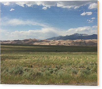 The Great Sand Dunes Wood Print by Christin Brodie
