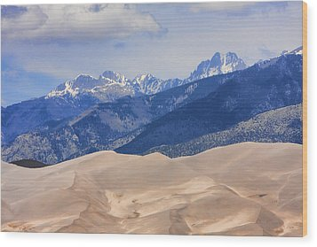The Great Sand Dunes Color Print 45 Wood Print by James BO  Insogna