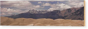 The Great Sand Dunes Panorama 1 Wood Print by James BO  Insogna