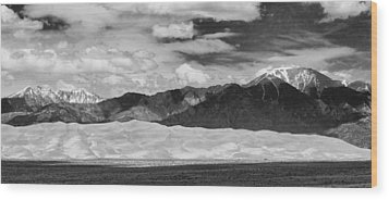 The Great Sand Dunes Panorama 2 Wood Print by James BO  Insogna
