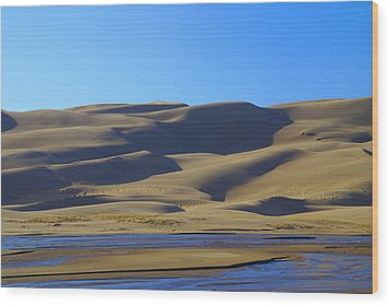 The Great Sand Dunes Up Close Wood Print